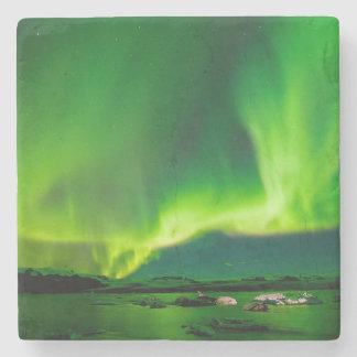 Iceland Northern Lights Stone Beverage Coaster