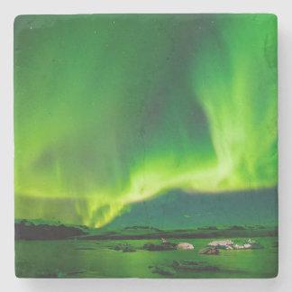 Iceland Northern Lights Stone Coaster