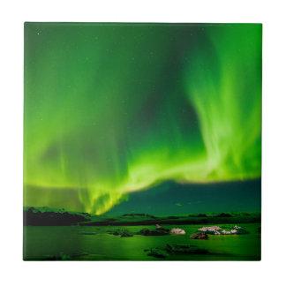 Iceland Northern Lights Tile