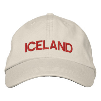 Iceland* Personalized Adjustable Hat Embroidered Hats