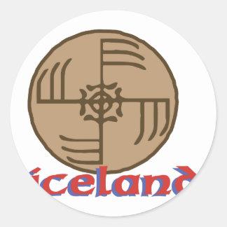 Iceland Round Sticker