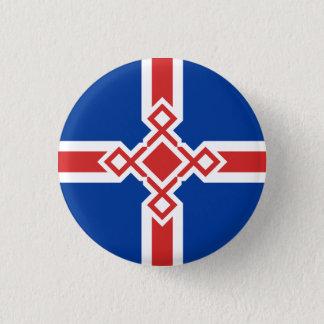 Iceland Rune Cross Badge 1 Inch Round Button
