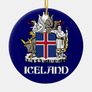 ICELAND - seal/emblem/blazon/coat of arms/symbol Ceramic Ornament