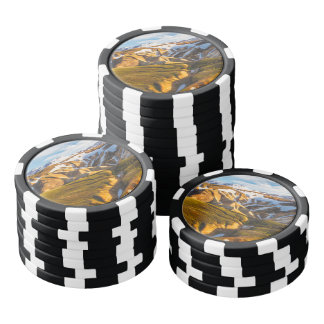 Iceland Snowy mountains Poker Chips Set