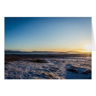 Iceland Sunrise Card