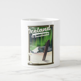 Iceland to Snowboard Large Coffee Mug