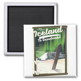 Iceland to Snowboard Magnet