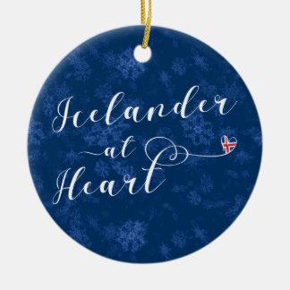 Icelander At Heart, Christmas Tree Ornament