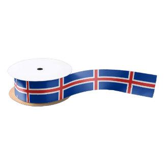 Icelander flag ribbon satin ribbon