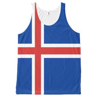 Icelandic all over flag shirt