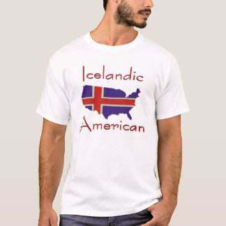 Icelandic American/USA Map T-Shirt