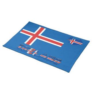 Icelandic flag placemat
