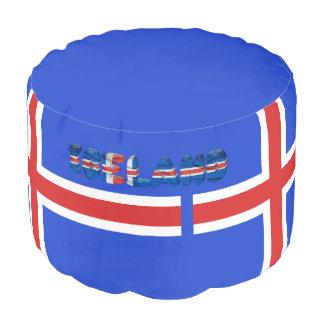 Icelandic flag pouf