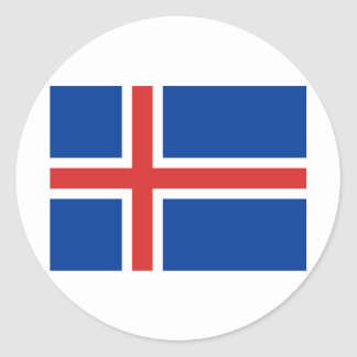 Icelandic flag round sticker