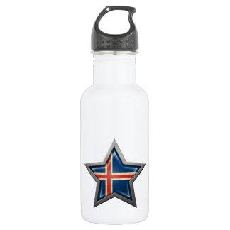 Icelandic Flag Star 532 Ml Water Bottle