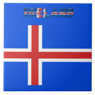 Icelandic flag tile