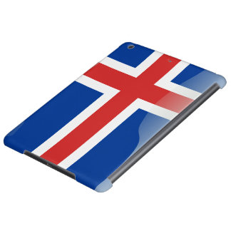 Icelandic glossy flag case for iPad air