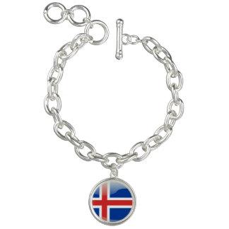 Icelandic glossy flag charm bracelets