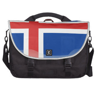 Icelandic glossy flag laptop shoulder bag