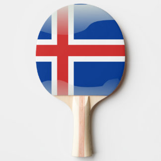 Icelandic glossy flag ping pong paddle