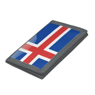 Icelandic glossy flag tri-fold wallet
