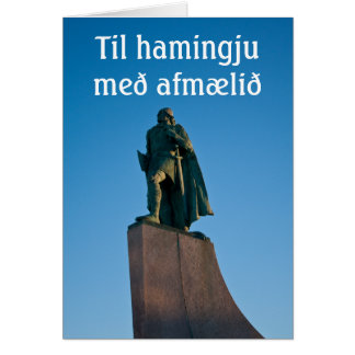 Icelandic Happy Birthday card
