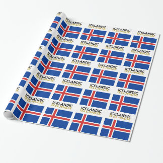 Icelandic Horse Flag Wrapping Paper