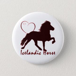 Icelandic Horse Hearts 2 Inch Round Button