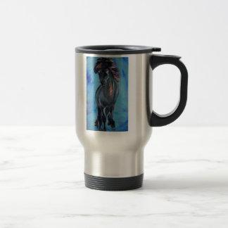 Icelandic Horse in tolt Travel Mug