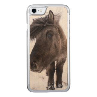 Icelandic Horse portrait, Iceland Carved iPhone 7 Case