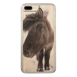 Icelandic Horse portrait, Iceland Carved iPhone 8 Plus/7 Plus Case