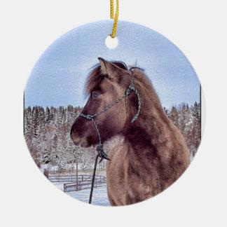 Icelandic Horse Power Ceramic Ornament