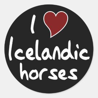 Icelandic horse round sticker