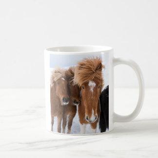 Icelandic Horses nuzzle, Iceland Coffee Mug