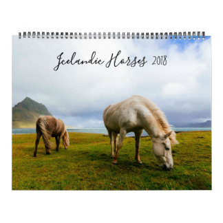 Icelandic Horses Wildlife Photography Wall Calendars
