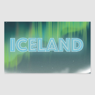 Icelandic Northern Lights Travel Art Sticker