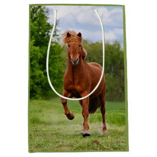 Icelandic Pony Runs Tölt Funny Photo Horse Lovers Medium Gift Bag