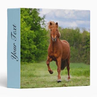 Icelandic Pony Tölt Funny Photo Horse Personalized 3 Ring Binder