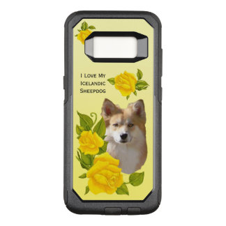 Icelandic Sheepdog and Yellow Roses OtterBox Commuter Samsung Galaxy S8 Case