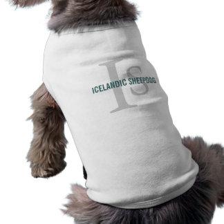 Icelandic Sheepdog Breed Monogram Dog Clothes