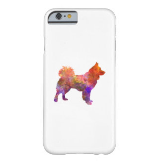 Icelandic Sheepdog in watercolor Barely There iPhone 6 Case