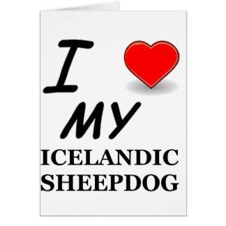 icelandic sheepdog love greeting card