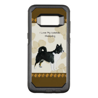 Icelandic Sheepdog on Tan Leaves OtterBox Commuter Samsung Galaxy S8 Case