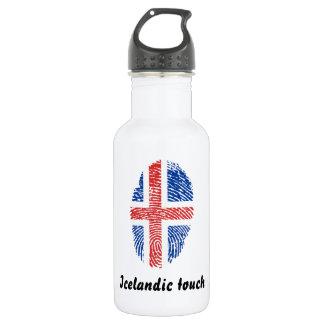 Icelandic touch fingerprint flag 532 ml water bottle