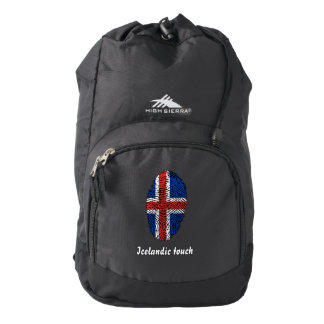 Icelandic touch fingerprint flag backpack