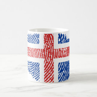 Icelandic touch fingerprint flag coffee mug