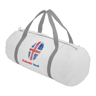 Icelandic touch fingerprint flag gym bag