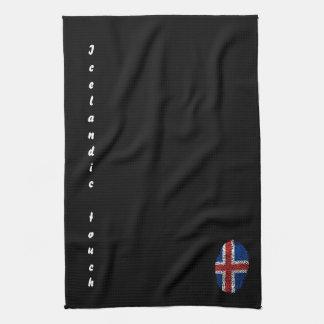 Icelandic touch fingerprint flag kitchen towel