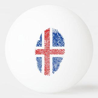Icelandic touch fingerprint flag ping pong ball