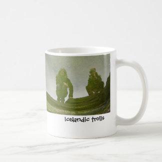 Icelandic trolls classic white coffee mug